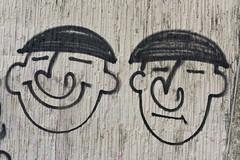 Thompson & Thompson (G Reeves) Tags: nikon nikond810 garyreeves outside urban landscapes urbanlandscapes town city metropolis brighton sussex eastsussex southcoast bw blackwhite blackandwhite monochrome closeups seafront graffiti tintin thompsonthompson marina macromonday