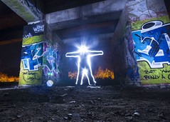 Out of this World (stopdead2012) Tags: uxbridge london graffiti torch light painting