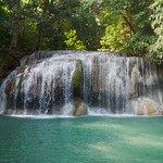 Level 2 of the Erawan Waterfalls in Kanchanaburi, Thailand thumbnail