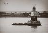 Robbins Reef Light (charlie_guttendorf) Tags: blackandwhite nikon nikon18200mm nikond7000 robbinsreeflightstation blackandwhitephotography lighthouse