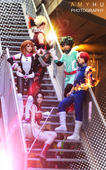 Boku No Hero Academia Cosplay BNHA (Amy Hu Photography) Tags: bokunoheroacademia cosplay cosplayer coser bnha bnhacosplay bokunoherpoacademiacosplay izuku midoriya deku dekucosplay bakugou ochaco uraraka katsuki shoto todoroki momo yaoyorozu edit portrait art postproduction digitalart photoshop editing fanart bnhafanart myheroacademia anime manga kawaii cute japan fire bomb ice electric team katana
