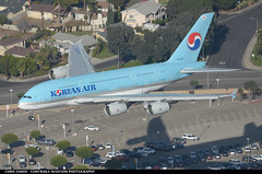 Korean Air A388 HL7627 ($and$man) Tags: losangeles aircraft airplane klax lax korean airbus a380 landing hl7627 skyteam