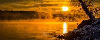 Sunrise at Conowingo dam...!