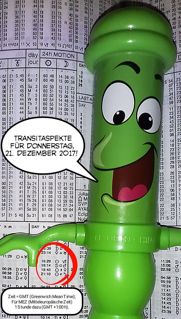 Ephemeriden für Donnerstag,  21.12.2017