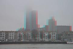 Maastoren Rotterdam 3D (wim hoppenbrouwers) Tags: maastoren rotterdam 3d anaglyph stereo redcyan skyscrapercity skyscraperpage