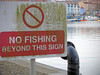 Gratitude (Andrew Gustar) Tags: no fishing sign bristol harbourside thanks fish