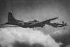 Little Friend Escort (aquanout) Tags: b17 p51 mustang airshow aeroplane blackandwhite monochrome clouds