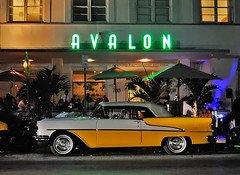 Chevy Belair (Infinity & Beyond Photography) Tags: avalonhotel oceandrive southbeach miamibeach night scene photography chevrolet chevy belair neon sign