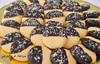 Biscotti al cocco glassati al cioccolato (Le delizie di Patrizia) Tags: biscotti al cocco glassati cioccolato le delizie di patrizia ricette dolci pasticceria secca