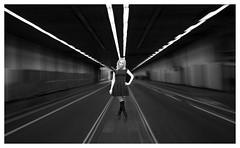Daisy in a tunnel (spencerrushton) Tags: spencerrushton spencer sexy rushton canon5dmkiii 5dmk3 5dmkiii 24105mm canon24105mmlf4 canonl canonlens canon manfrotto manfrottotripod model daisybright female femalemodel teenmodel teen teengirl beautiful blackandwhite black white monochrome portrait pose people purpleport pretty london londonuk londoncity lady woman girl dress