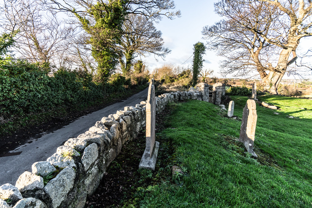 ANCIENT CHURCH AND GRAVEYARD AT TULLY [LAUGHANSTOWN LANE NEAR THE LUAS TRAM STOP]-134575