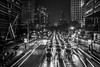 Bangkok Nights - Wireless Road II (DarrenCowley) Tags: bangkok wirelessroad lighttrails longexposure night lights citylife traffic vehicles monochrome asia thailand