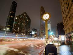 Fast Times at Flatiron (Brian D' Rozario) Tags: brian19869 briandrozario nikon d750 fullframe hdr highdynamicrange street urban night lights light clock watch lightstreak tokina1116mm architecture flatiron manhattan nyc nycity newyorkcity newyork