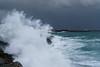 storm in heraklio crete (athanasakisgia) Tags: landscape sea storm wave white heraklion crete