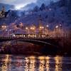 Prague sous la neige (Guillaume WOLFF) Tags: nikon d610 fx prague 135mm tramway pont brigde river rivière vlatva