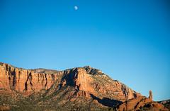 A day moon hovers over Red Rock State Park in Sedona, Arizona. (apardavila) Tags: arizona redrockstatepark sedona afternoon daymoon desert moon