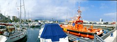2018-01-05 15.03.00 (anyera2015) Tags: ceuta panorámica panorama puerto noblex 135s noblex135s 135 kodak kodakcolorplus200 colorplus 200