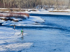 Bow River fishers living on the edge... (benlarhome) Tags: canada calgary alberta bowriver