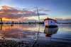 Divine - Divino (Yako36) Tags: portugal seixal pôrdosol sunset boat embarcação landscape paisagem fujifilmxt10 fujifilmxf1855mmf284rlmois