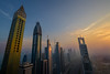 Downtown Dubai (Michaela Loheit) Tags: dubai burj khalifa downtown skyline sunset skyscraper sheikhzayedroad