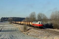 232 531 mit dem Ostbahnknicker im frostigen Obersdorf... (M. Eisenmann) Tags: 232 ludmilla db knicker ostbahn diesellok