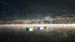 4 - 1 =3 (Lindi m) Tags: llynpaddarn wales sunk sinking mist lake llanberris sunrise reflections