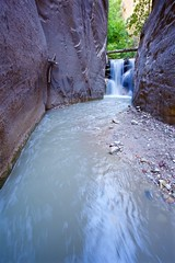Waterfall in the Narrows (kevinfoxphotography53) Tags: kevinfoxphotography nps zion national park narrows waterfall utah ngc