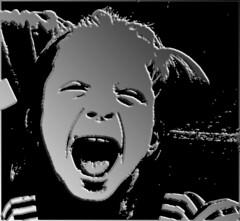 Schrei (nori pi) Tags: schreien kind kopf mund offen shwarzweis