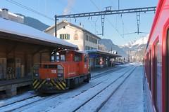 Ilanz -  Station RhB (Kecko) Tags: 2017 kecko swiss switzerland schweiz suisse svizzera graubünden graubuenden gr ilanz glion rhätischebahn rhaetian railway railroad bahn viafierretica rhb eisenbahn station bahnhof train zug rangierlok shunting loco europe swissphoto geotagged geo:lat=46775410 geo:lon=9208330