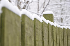 Snowy fence (katy1279) Tags: happyfencefriday fencefriday woodenfence snow snowyfence