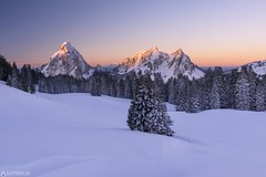 Three peaks - Mythen (Captures.ch) Tags: alpen aufnahme baum berge himmel hã¼gel landschaft morgen schweiz sonnenaufgang tal wald winter alps capture forest hills landscape morning mountains sky snow sunrise swiss switzerland tree valley ibergeregg schwyz mythen