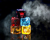 Macro Mondays - Redux 2017 - My Favorite Theme of the Year (Leslie Victor) Tags: img79642 dicemasters dice smoke vibrant color skull macromondays redux2017myfavoritethemeoftheyear gamepieces blackbackground