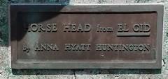 M Horse Head from El Cid by Anna Hyatt Huntington c1964 donation plaque,  Community Building , 201 N State St, Monticello, IL 20170824 (RLWisegarver) Tags: piatt county history monticello illinois usa il