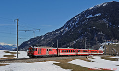 MGB MLV to Andermatt (Don Gatehouse) Tags: switzerland suisse schweiz svizzera eisenbahnen matterhorngotthardbahn mgb metregauge disentismustér andermatt classdeh44 motorluggagevan 21 stalden segnas regio r835 bvz