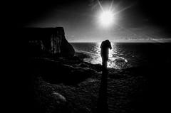 Fellow photographer (lilyshot) Tags: film ricohgr21 ilfordsfx redfilter clifftop silhouette beachyhead photographer contrejour