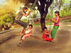 Saawan (san_shukla) Tags: jhoola childhood fun friends girls village villagelife northindia india indiankids