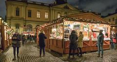 Christmas market, Stortorget, Stockholm (Gösta Knochenhauer) Tags: nik 2017 december panasonic lumix fz1000 dmcfz1000 stockholm sverige sweden schweden suède svezia suecia market p9130144nik p9130144 julmarknad christmas old town gamla stan weihnachtsmarkt night