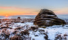 The Beehive (quiltershaun) Tags: sunrise beehive rocks geology morning early winter december darkpeak peak district country nationalpark uk england derbyshire yorkshire hills tor edge nikon d3200 1685 snow over owler mother cap sun sky heather