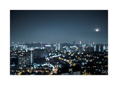 Dizzying Heights ④ (Rob₊Lee) Tags: 大人の宿題 adulthomework blur outoffocus aerial view building tall night morning bokeh lights focusshift focus accidental badfocus blurry hyperopia myopia