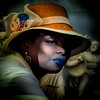 Labios azules.- Lèvres bleues - Blue lips - (COLINA PACO) Tags: retrato ritratto portrait photoshop photomanipulation franciscocolina fotomanipulación fotomontaje girl chica woman