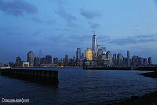 BLUE HOUR IN MANHATTAN. NEW YORK CITY.