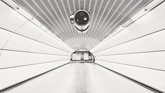 (Rhia.photos) Tags: wien vienna metro tube underground austria österreich architecture walk walkway walking commute commuters travel blackandwhite blackwhite bw monochrome monotone mono black white lines fuji light fujifilmx fujix fujifilm spaceship human humanelement humans tunnel