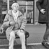 Mannheim Street Frau 385 b&w (rainerneumann831) Tags: bw blackwhite street streetscene ©rainerneumann urban monochrome candid city streetphotography blackandwhite mannheim frau portrait 1x1 quadratisch
