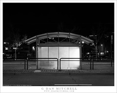 Trolley Stop (G Dan Mitchell) Tags: embarcadero trolley stop glow lights street night blackandwhite monochrome sanfrancisco california usa north america urban