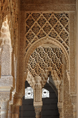 Alhambra (mφop plaφer) Tags: grenade granada espagne espana spain andalousie andalucia alhambra maure mauresque moorish calligraphie calligraphy sculpture architecture islam muslim musulman palais palace nasride colonne column arche ark