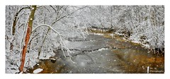 Snowy River Panorama (Dr. M.) Tags: flakes longexposure water snow ohio river