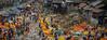 Marché aux fleurs de Mullick Ghat, Calcutta, Bengale occidental, Inde (Pascale Jaquet & Olivier Noaillon) Tags: panorama marchéauxfleurs ambiance calcutta bengaleoccidental inde ind