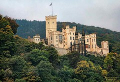 Stolzenfels, a neo-gothic castle on the Rhein, Koblenz Germany (PhotosToArtByMike) Tags: stolzenfelscastle germany schlossstolzenfels riverrhine rhine medieval neogothiccastle medievalfortress rhinelandpalatinate castle rhinegorgeunescoworldheritagesite rhinevalley lahnstein rhinegorge middlerhinevalley
