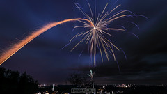 Firework (Emanuel D. Photography) Tags: night celebration exploding sky event bright yellow holiday illuminated red vibrantcolor glowing party social multi colored phenomenon light man made objekt firework display