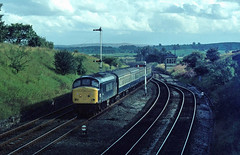 And finally for this trio another image at Settle jnc taken on a rather grainy slide film......45003 Leeds-Carlisle Settle Jnc 22-08-1981 (the.chair) Tags: 45003 leedscarlisle settle jnc aug 1991